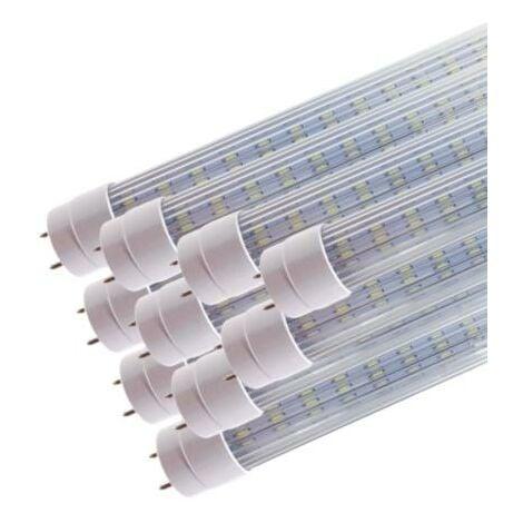 Tube Néon LED 120cm T8 20W (Pack de 10) - Blanc Neutre 4000K - 5500K