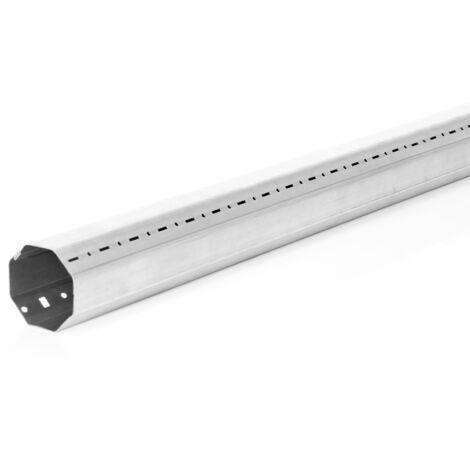Tube octogonal 1m pour volet roulant - Diam. 60mm - Recoupable