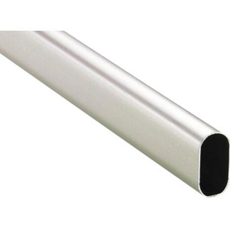 Tube ovale chromé 30 x 15 mm DUVAL BILCOCQ - 3 m - 51-1029-0130