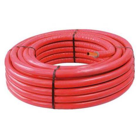 TUBE PER Diamètre 16 Rouge Isolé 50m