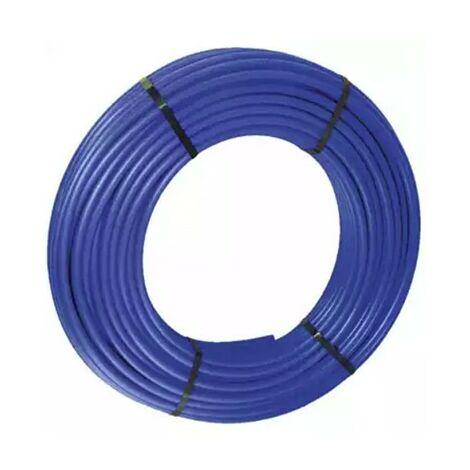 Tube PER - Nu - 16x20mm - Couronne de 120m - Sans BAO - Bleu