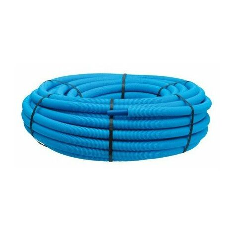 Tube PER polyéthylène prégainé couronne 12x1 100m bleu