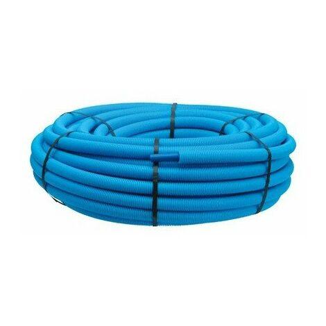 Tube PER polyéthylène prégainé couronne 16x1,5 100m bleu
