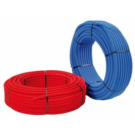 TUBE PER pré-gainé - Ø10x12mm - bleu - longueur 25ml