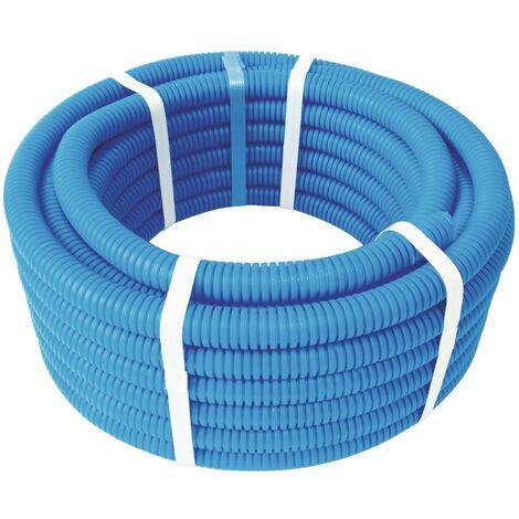 Tube PER pré-gainé bleu