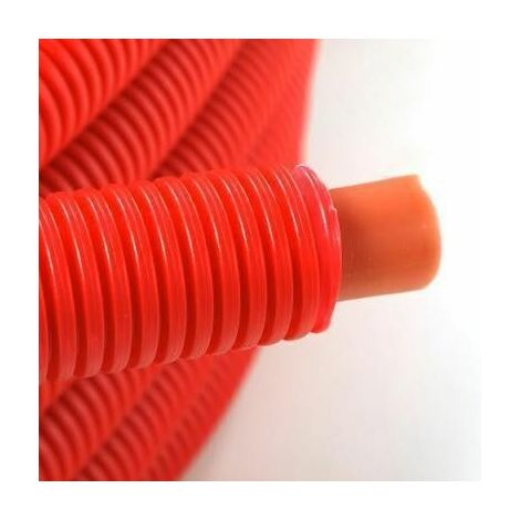 Tube PER Prégainé 13x16 - 50m rouge