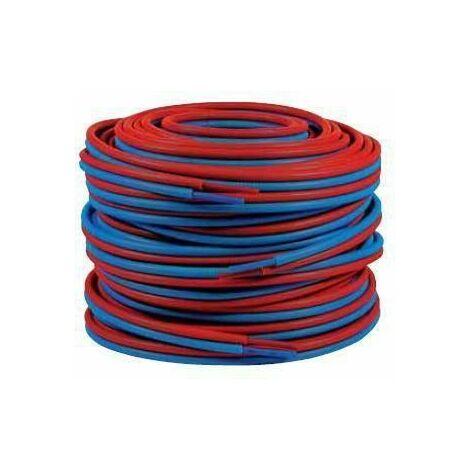 Tube PER Prégainé Double 13x16 - 50m bleu/rouge