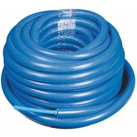 Tube PER prégainé isolé bleu