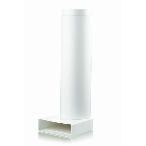 Tube plat 150 mm pour conduit de ventilation chicane avec tube
