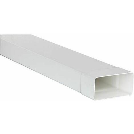 Tube plat system 100 110 x 53 mm, blanc Longueur 1,0 m avec manchon