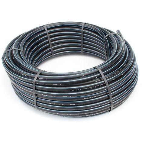 Tube polyéthylene bande bleue (PE)