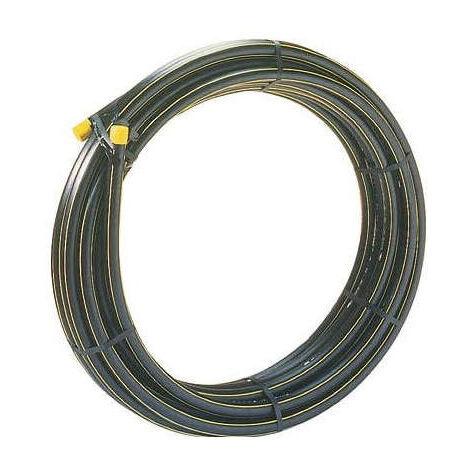 Tube polyéthylène Bande Jaune (pour gaz) - PE 80 - Diamètre 20/32 mm