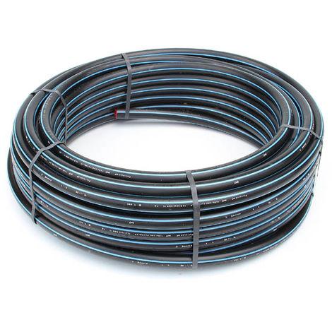 Tube polyethylene hd bande bleue pour adduction d eau potable