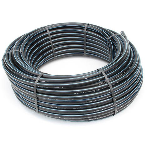 Tube polyéthylène PEHD bande bleue D25 10B couronne 100 m