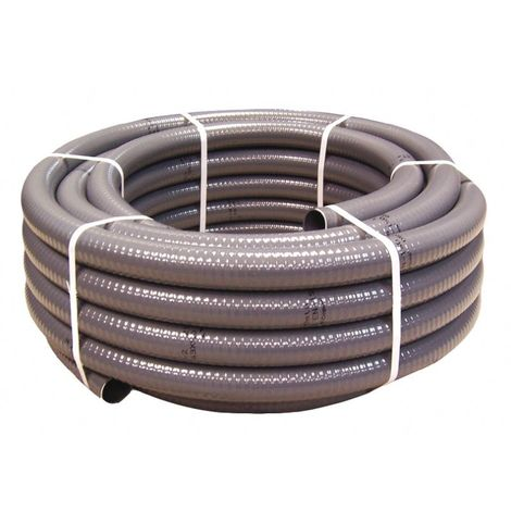 Tube PVC gris semi-rigide 25 m et 50 mm de diamètre 40557