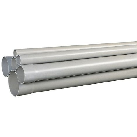 Tube PVC pour évacuation des eaux