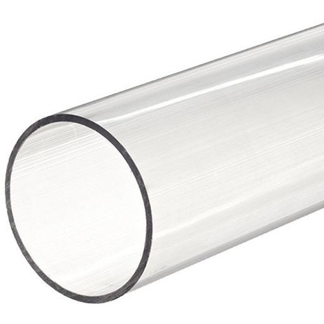 Tube PVC rigide D50 transparent 16 b - 2.5 m - Catégorie Tube PVC pression