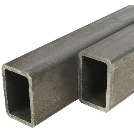 Tube rectangulaire 2 pcs Acier de construction 2 m 60x30x2 mm