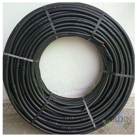 Tuberia 16mm riego por goteo a 100cm negra, 100 metros