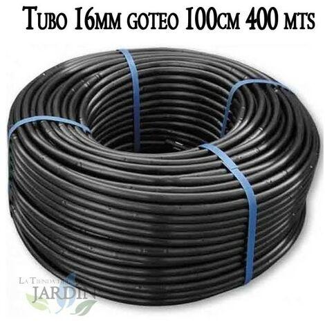 Tuberia 16mm riego por goteo a 100cm negra, 400 metros