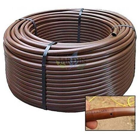 Tuberia 16mm riego por goteo a 33cm marrón, 100 metros