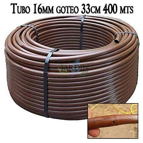 Tuberia 16mm riego por goteo a 33cm marrón, 400 metros