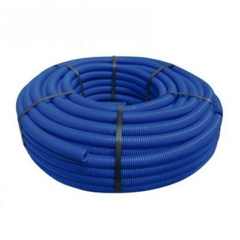 Tubería Corrugada azul 13mm, bobina 50 metros
