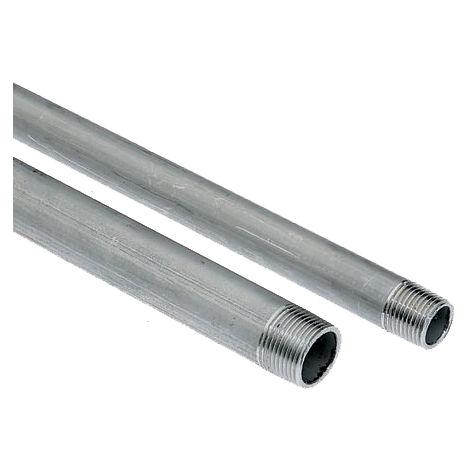 """Tubes filetés en acier inoxydable, RS PRO Acier inoxydable, Diamètre nominal 21mm, longueur 2m, BSPT 1/2"""""""