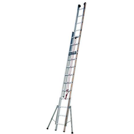 Tubesca - Echelle coulissante à corde 2 plans 12+12 échelons Haut. d'accès 6,94m - PRONOR