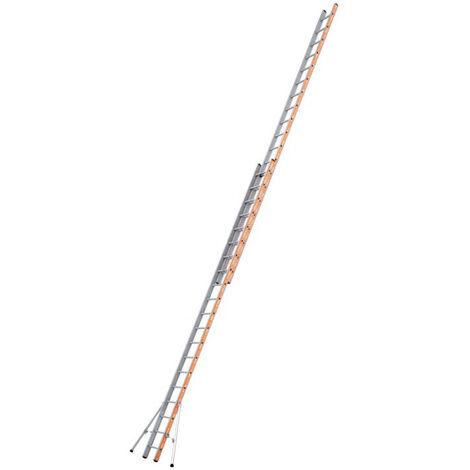 Tubesca - Echelle coulissante à corde 2 plans 23+23 échelons Haut. d'accès 12,56m - PRONOR