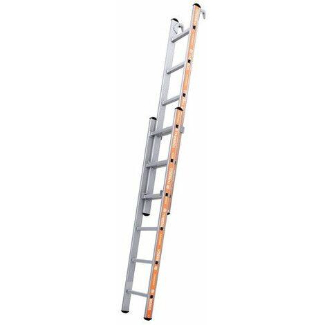Tubesca - Echelle coulisse à main en Alu 2x6 marches accès 3,5m max. avec crochet - PRONOR