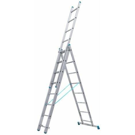 Tubesca - Echelle transformable 3 plans 8+8+8 échelons Haut. d'accès max 5,97m - STARLINE S+