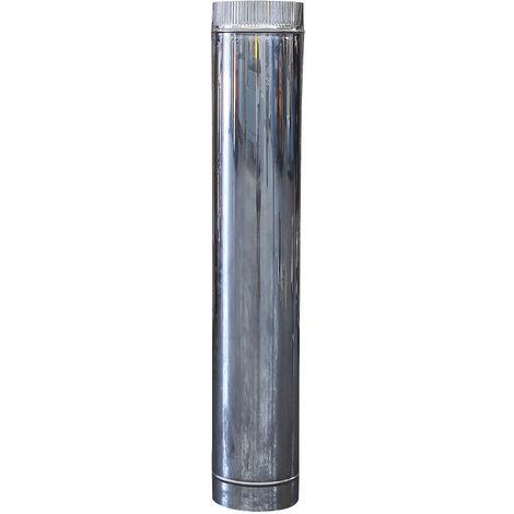 Canna fumaria DN 140 lunghezza 0.25 mt L 250mm tubo acciaio inox 316 INOX