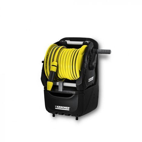"""Karcher Irrigazione - Avvolgitubo portatile HR 7.315 con cassetto portaoggetti. Dotato di tubo PrimoFlex da 5/8"""" (15 metri), lancia e raccordi"""