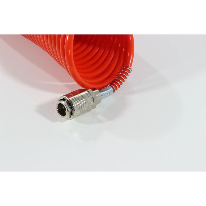 TUBO A SPIRALE PER ARIA COMPRESSA 5 MT CON RACCORDI RAPIDI FIAC 1140 D 8 X 6 MM