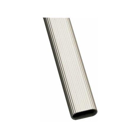 Tubo Armario 1 30x15x1,4mm.2m.aluminio Plata 18443
