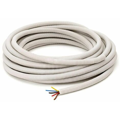 tubo corrugado 16 mm precableado Sencys - \'3G1.5\' 12 m - Gris