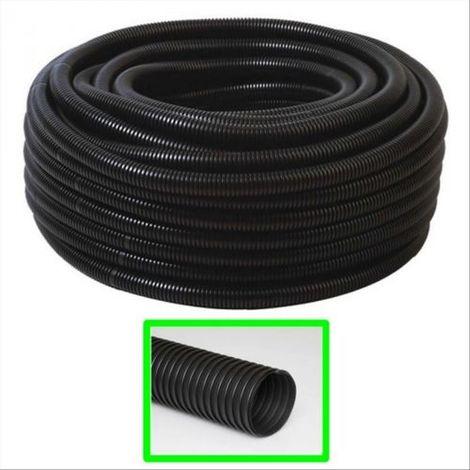 """main image of """"TUBO CORRUGATO FLESSIBILE 20 mm FLEX PVC NERO MT.50 CAVI IMPIANTI ELETTRICI"""""""