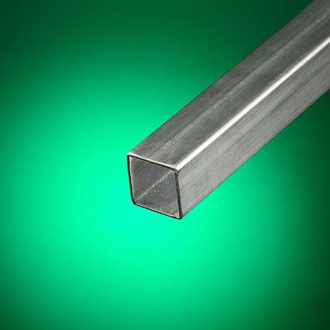 Tubo cuadrado acero inoxidable cepillado 30x30 mm