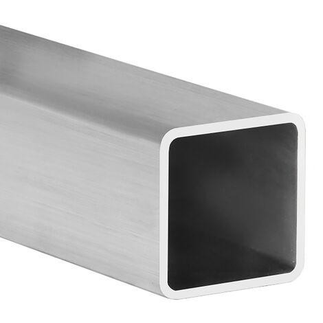Tubo cuadrado de aluminio, acabado en crudo y 1000 mm de largo. Ref. 9005.2020.00