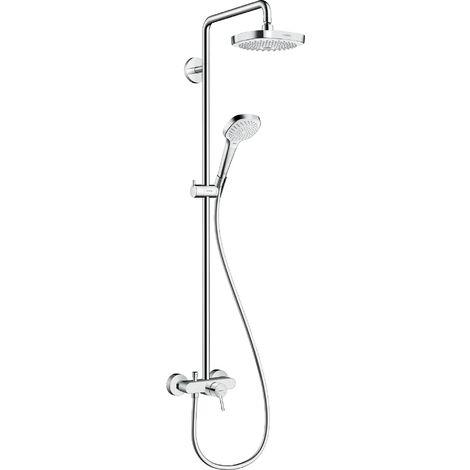 Tubo de ducha Croma Select E 180 2jet de Hansgrohe con mezclador monomando, blanco/cromo - 27258400