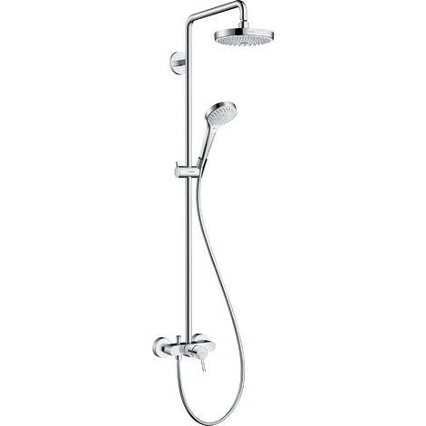 Tubo de ducha Croma Select S 180 2jet de Hansgrohe con mezclador monomando, blanco/cromo - 27255400