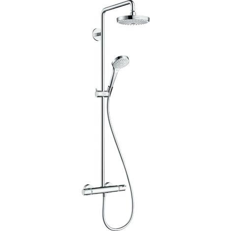 Tubo de ducha Croma Select S 180 2jet EcoSmart con termostato, blanco/cromo - 27254400