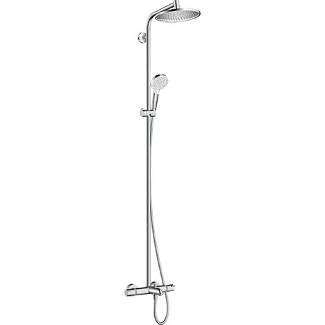 Tubo de ducha Hansgrohe Crometta S 240 1jet con termostato de baño, cromado - 27320000