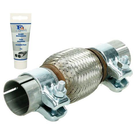 Tubo de escape flexible pieza montaje universal acero pasta reparación 45x100 mm
