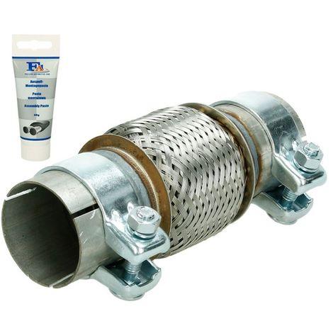 Tubo de escape flexible pieza montaje universal acero pasta reparación 60X100 mm