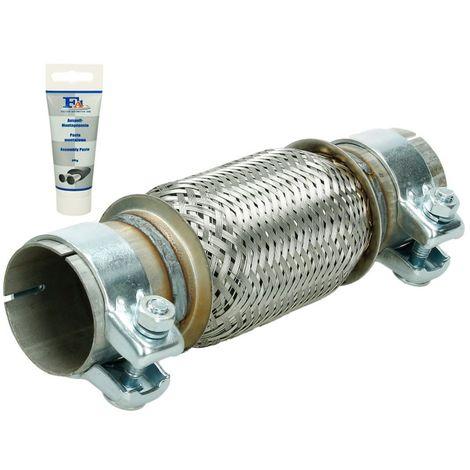 Tubo de escape flexible pieza montaje universal acero pasta reparación 60x150 mm
