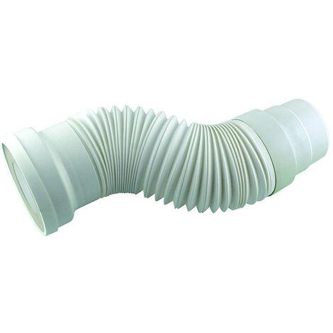 Tubo de inodoro universal flexible y extensible de 270 a 570 mm