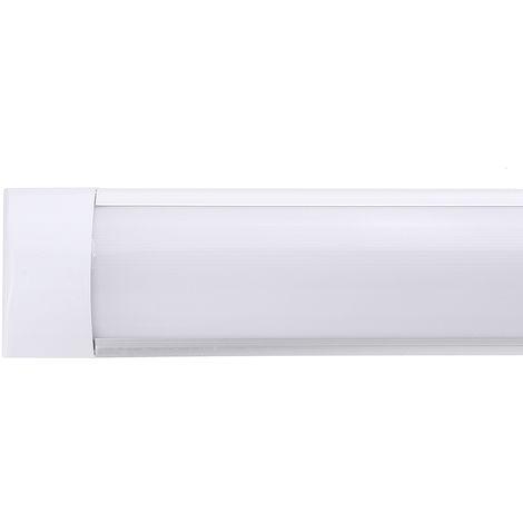 Tubo de luz de aluminio de 90cm 72led para oficina en casa 220V blanco cálido
