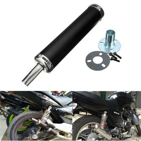 Tubo de silenciador de escape de motocicleta universal de 6x28 cm para scooter de calle